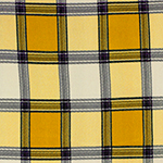 Mustard Deep Navy Big Plaid Hacci Sweater Knit Fabric