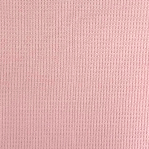 Rose Pink Brushed Solid Waffle Knit Fabric