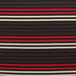 Red Brown Cream Small Stripe Ponte de Roma Fabric
