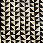 Black Triangle Squares on Stone Ponte De Roma Knit Fabric