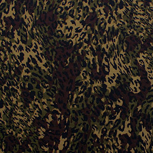 Camo Animal Print Ponte De Roma Knit Fabric