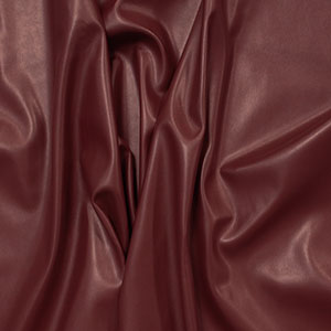Burgundy Matte Faux Vegan Leather Fabric