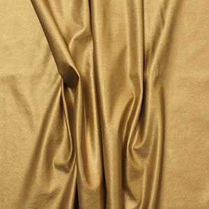 Metallic Gold Matte Faux Vegan Leather Fabric