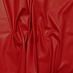 Red Matte Faux Vegan Leather Fabric
