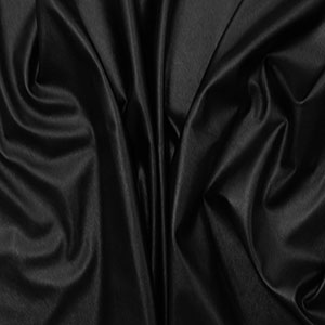 Black Faux Vegan Leather Fabric
