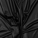 Black Stretch Faux Vegan Leather Fabric