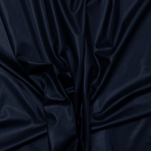 Navy Blue Stretch Faux Vegan Leather Fabric