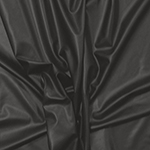 Charcoal Gray Stretch Faux Vegan Leather Fabric