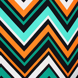 Multi Color Large Chevron Liverpool Double Knit Fabric