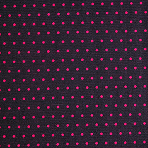Hot Pink Pin Dots on Purple Ponte de Roma Knit Fabric