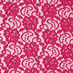 Fuchsia Pink Floral Stretch Lace Knit Fabric