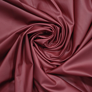 Deep Red Stretch Faux Vegan Leather Fabric
