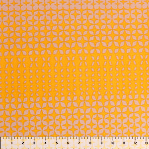 Mustard Nude Mod Diamonds Liverpool Double Knit Fabric