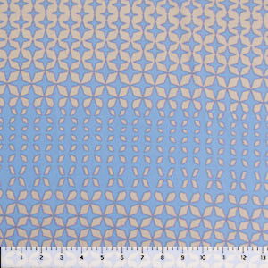 Blue Nude Mod Diamonds Liverpool Double Knit Fabric