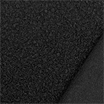 Black Solid Teddy Sheep Knit Fabric
