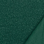 Pine Green Solid Teddy Sheep Knit Fabric