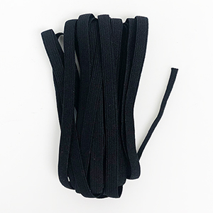 "1/4"" Black Latex Free Knit Elastic"