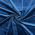 Navy Blue Solid Velvet Stretch Knit Fabric