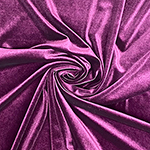 Eggplant Purple Solid Velvet Stretch Knit Fabric