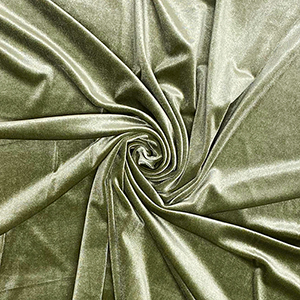 Sage Green Solid Velvet Stretch Knit Fabric