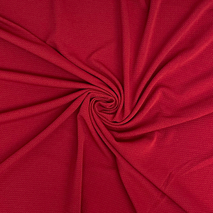 Ruby Solid Liverpool Bullet Double Knit Fabric