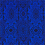 Black Royal Blue Baroque Liverpool Pique Double Knit Fabric