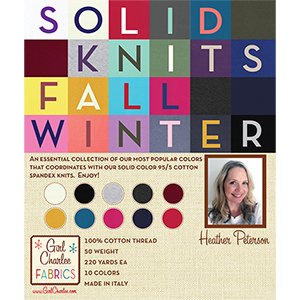 Fall Winter Solids Aurifil Thread Collection by Heather Peterson for Girl Charlee