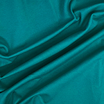 Teal Blue Solid Ponte de Roma Knit Fabric