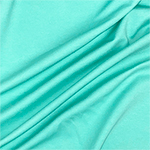 Aqua Blue Solid Ponte de Roma Knit Fabric