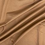 Cafe Au Lait Solid Ponte de Roma Knit Fabric