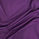 Eggplant Purple Solid Ponte de Roma Knit Fabric