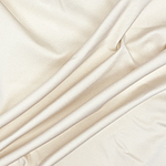 Light Cream Solid Ponte de Roma Knit Fabric