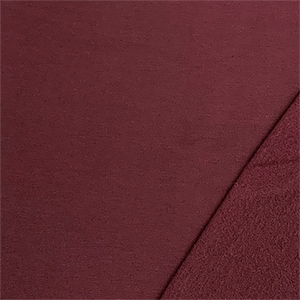 Maroon Red Solid Jersey Sweatshirt Fleece Blend Knit Fabric