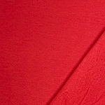 Crimson Red Solid Jersey Sweatshirt Fleece Blend Knit Fabric