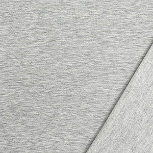 Heather Gray Solid Jersey Sweatshirt Fleece Blend Knit Fabric