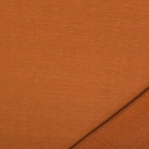 Caramello Brown Solid Jersey Sweatshirt Fleece Blend Knit Fabric