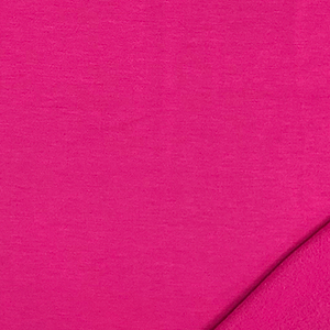Half Yard Fuchsia Pink Solid Jersey Sweatshirt Fleece Blend Knit Fabric