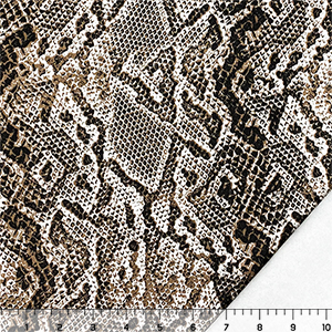 Half Yard Python Snakeskin Cotton Jersey Sweatshirt Fleece Knit Fabric