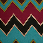 Burgundy Brown Big Stitched Chevron Hacci Sweater Knit Fabric