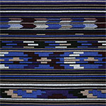 Royal Blue Indian Blanket Stripe Hacci Sweater Knit Fabric
