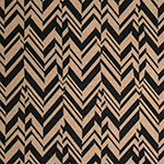 Black Cafe Broken Chevron Feathers Ponte de Roma Knit Fabric