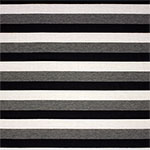 Black Gray Ivory Stripe Cotton Jersey Blend Knit Fabric