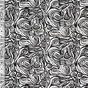 Monochromatic Swirl Floral Cotton Jersey Knit Fabric