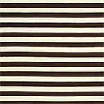 Dark Chocolate and Cream Stripe Cotton Jersey Knit Fabric