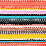 Bright Shaky Ethnic Cotton Jersey Blend Knit Fabric