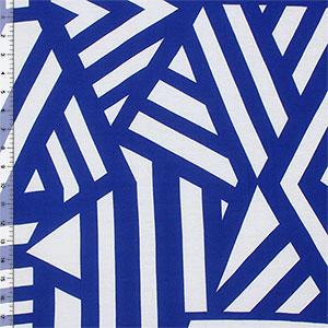 2ab9e947c3f Royal Blue Nautical Flag Cotton Jersey Blend Knit Fabric - Girl
