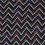 Houndstooth Chevron Cotton Spandex Blend Knit Fabric