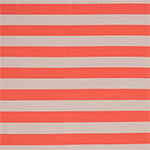 Coral and Taupe Stripe Cotton Spandex Knit Fabric