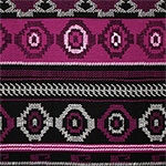 Magenta Black Tiny Arrow Navajo Cotton Spandex Blend Knit Fabric