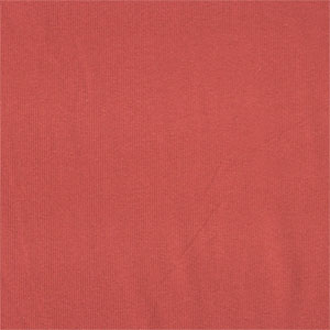 Half Yard Deep Coral Cotton Spandex Ribbing Knit Fabric